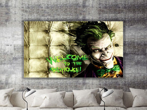 Welcome to the Madhouse Joker Canvas Print