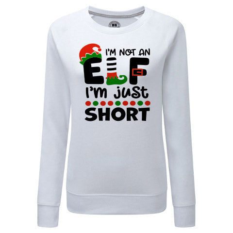 I'm Not an Elf, I'm just short. Funny Adult Christmas Sweater/Jumper. Available in Women's & Men's Sizes