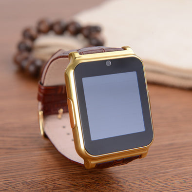 Luxury W90 Leather Business Smartwatch - multimegastore.com