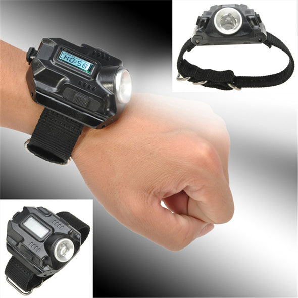 LED Flashlight Watch Rechargeable Wrist Torch - multimegastore.com