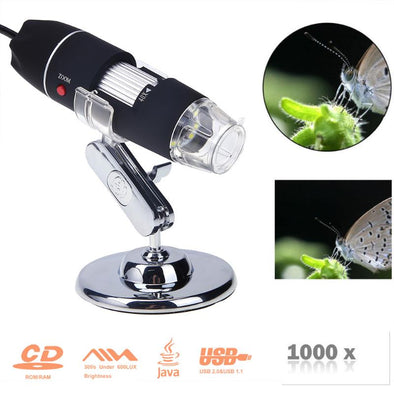 Microscope 8 LED Magnifier - multimegastore.com