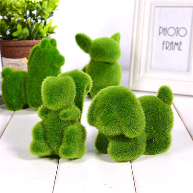 Lovely Animal Shape Green Grass Ornaments - multimegastore.com
