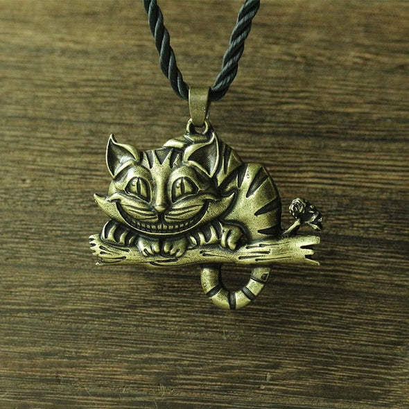 lanseis 1pcs viking cheshire cat women necklace - multimegastore.com
