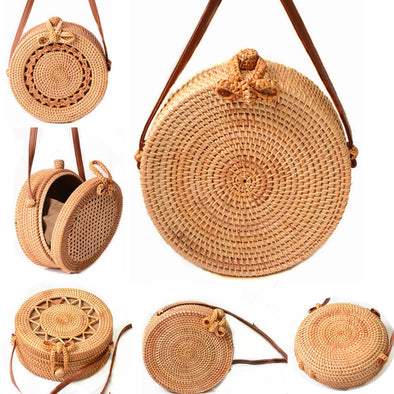 Round Straw Bag For Women - multimegastore.com