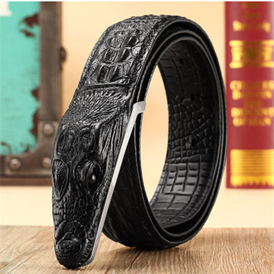 Aligator-Crocodile Leather belt For men - multimegastore.com
