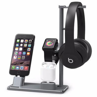 Apple Watch Charger iPhone Dock Station Headphones Stand - multimegastore.com
