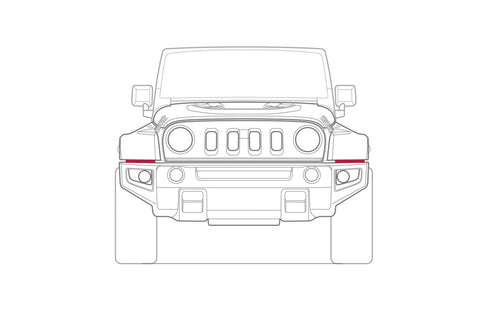 Jeep Wrangler LED Daytime Running Lights Chelsea Truck Company