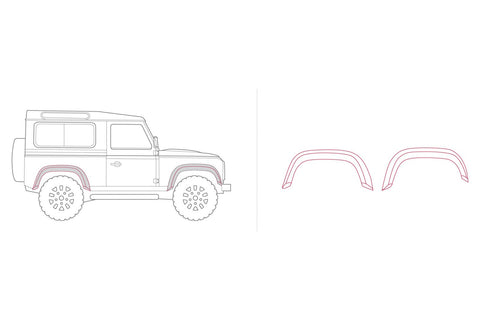 Land Rover Defender Forest Arches