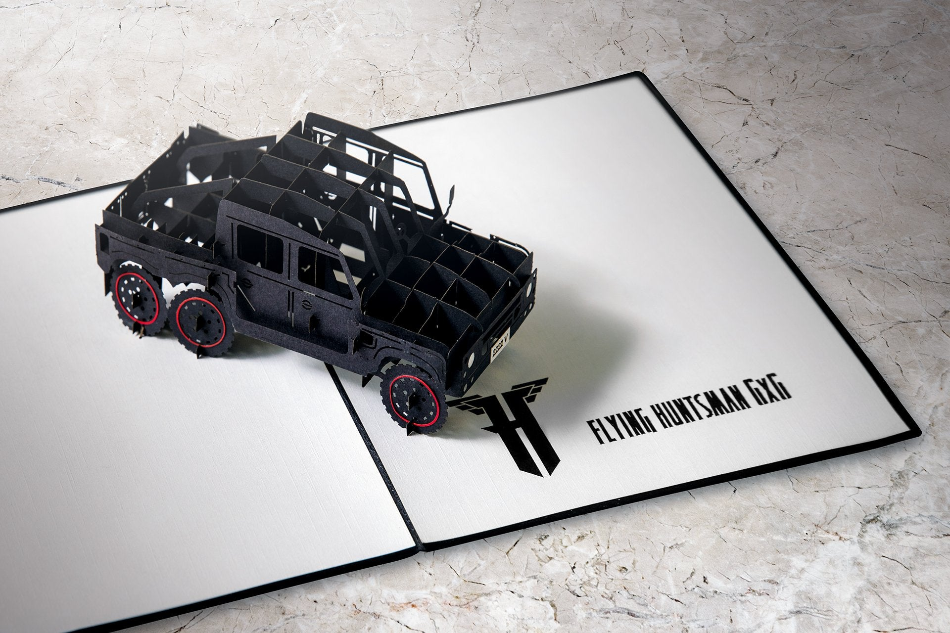Flying Huntsman Chelsea Truck Company 3D Greeting Card