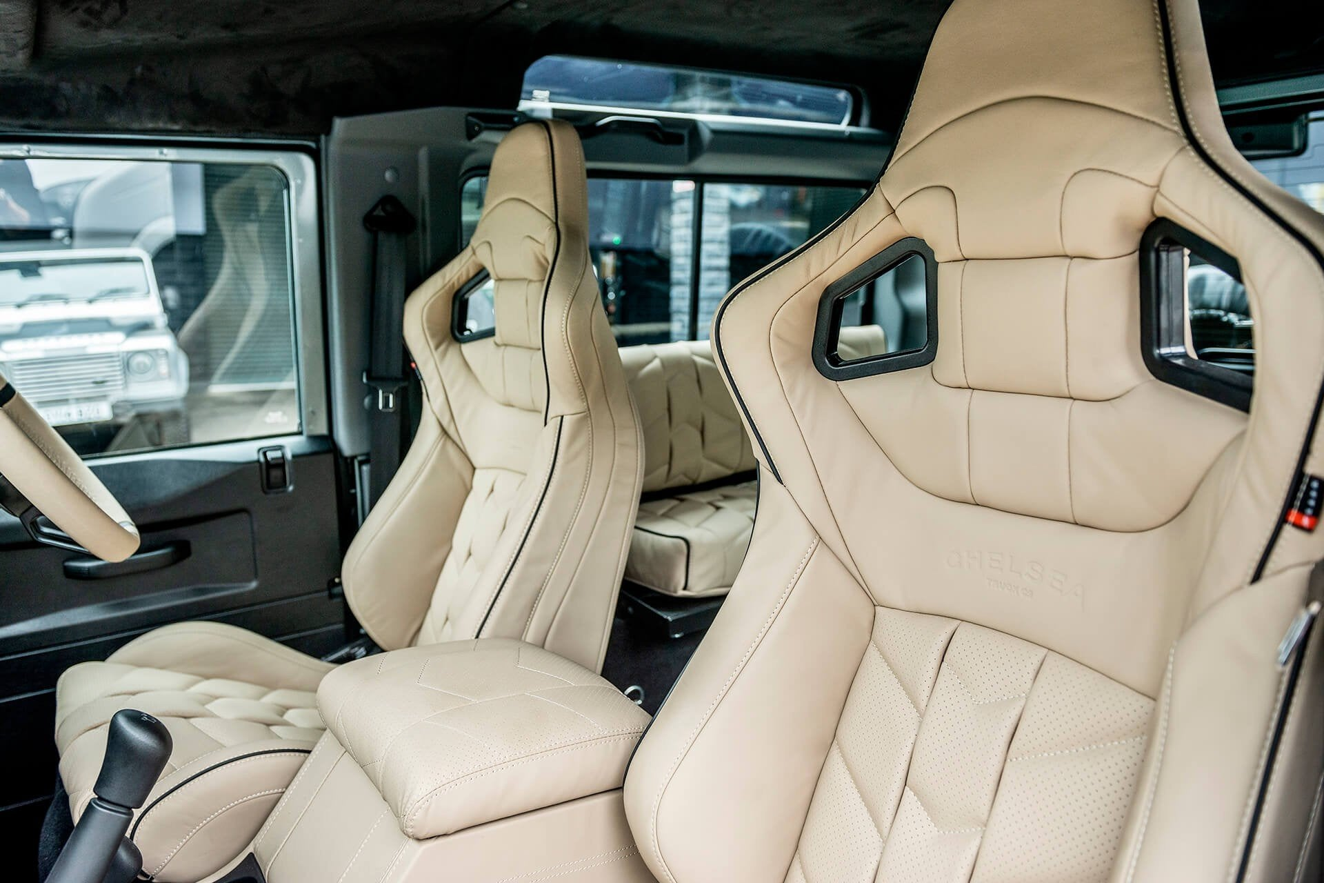 Land Rover Defender 90 (1991-2016) Leather Interior 6 Seat Conversion by Chelsea Truck Company - Image 1482