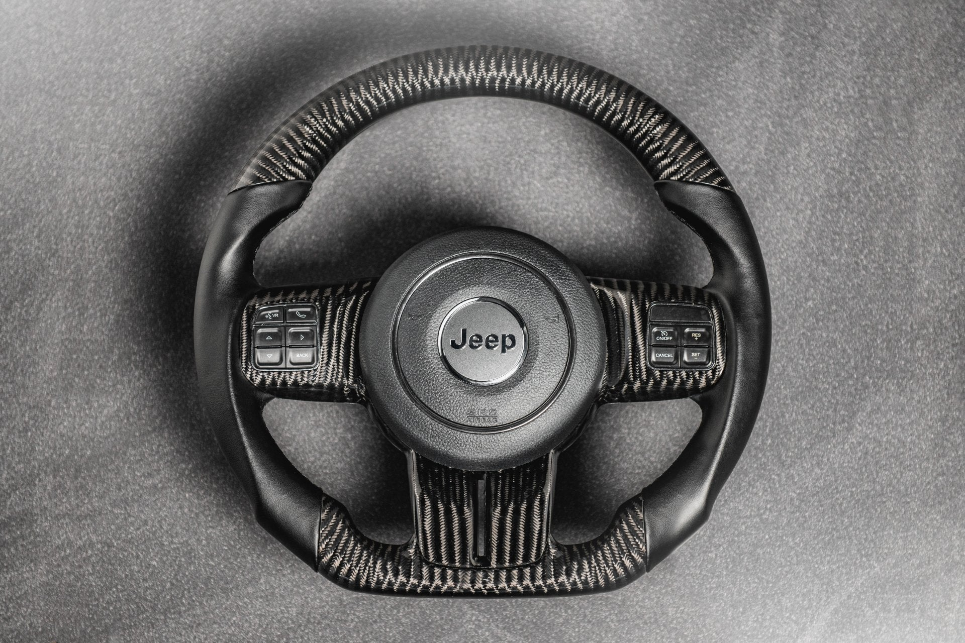Jeep Wrangler JK (2007-2018) Exposed Carbon Steering Wheel