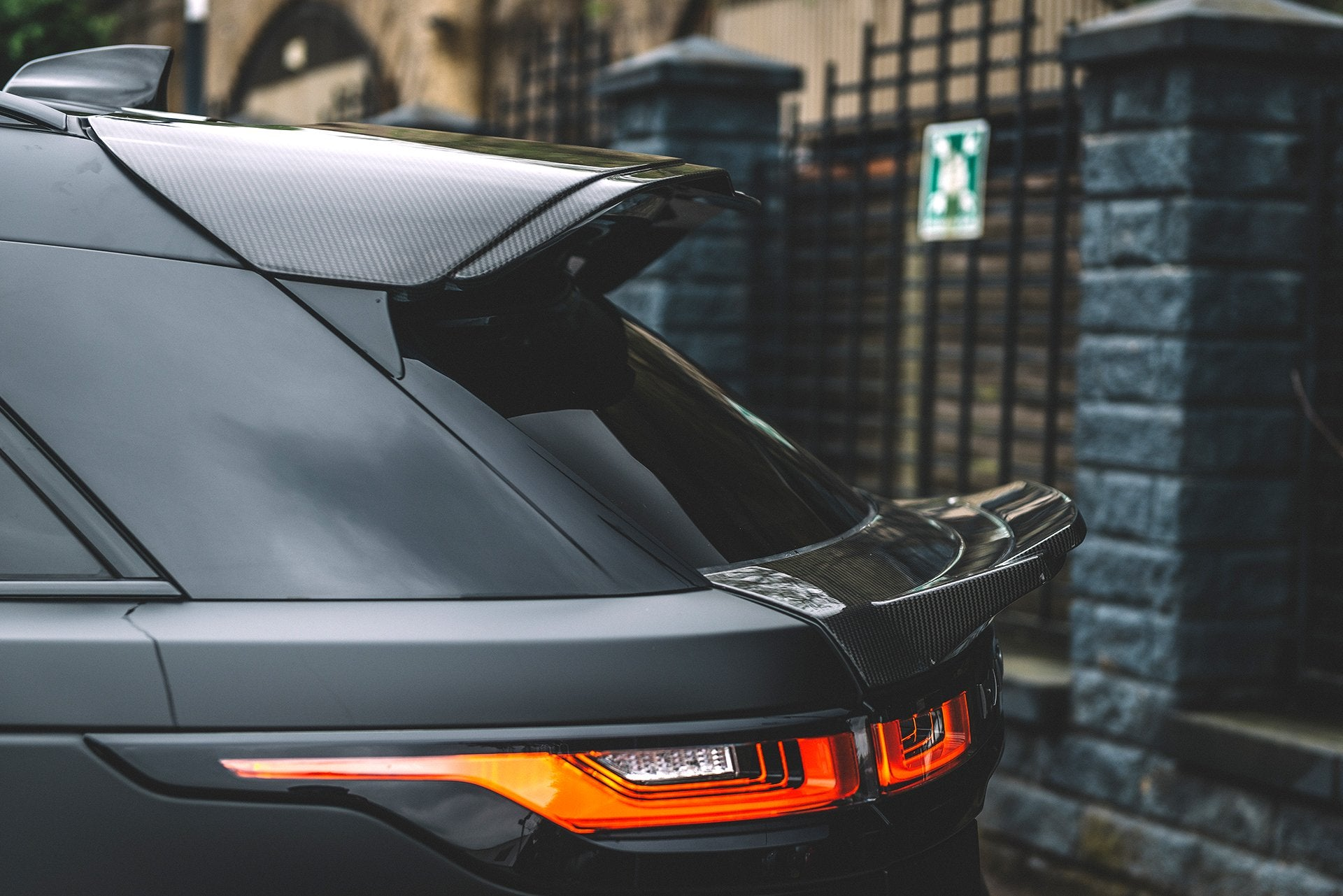 Land Rover Range Rover Velar (2017-Present) Exposed Carbon Large Upper Rear Roof Wing by Kahn - Image 2560