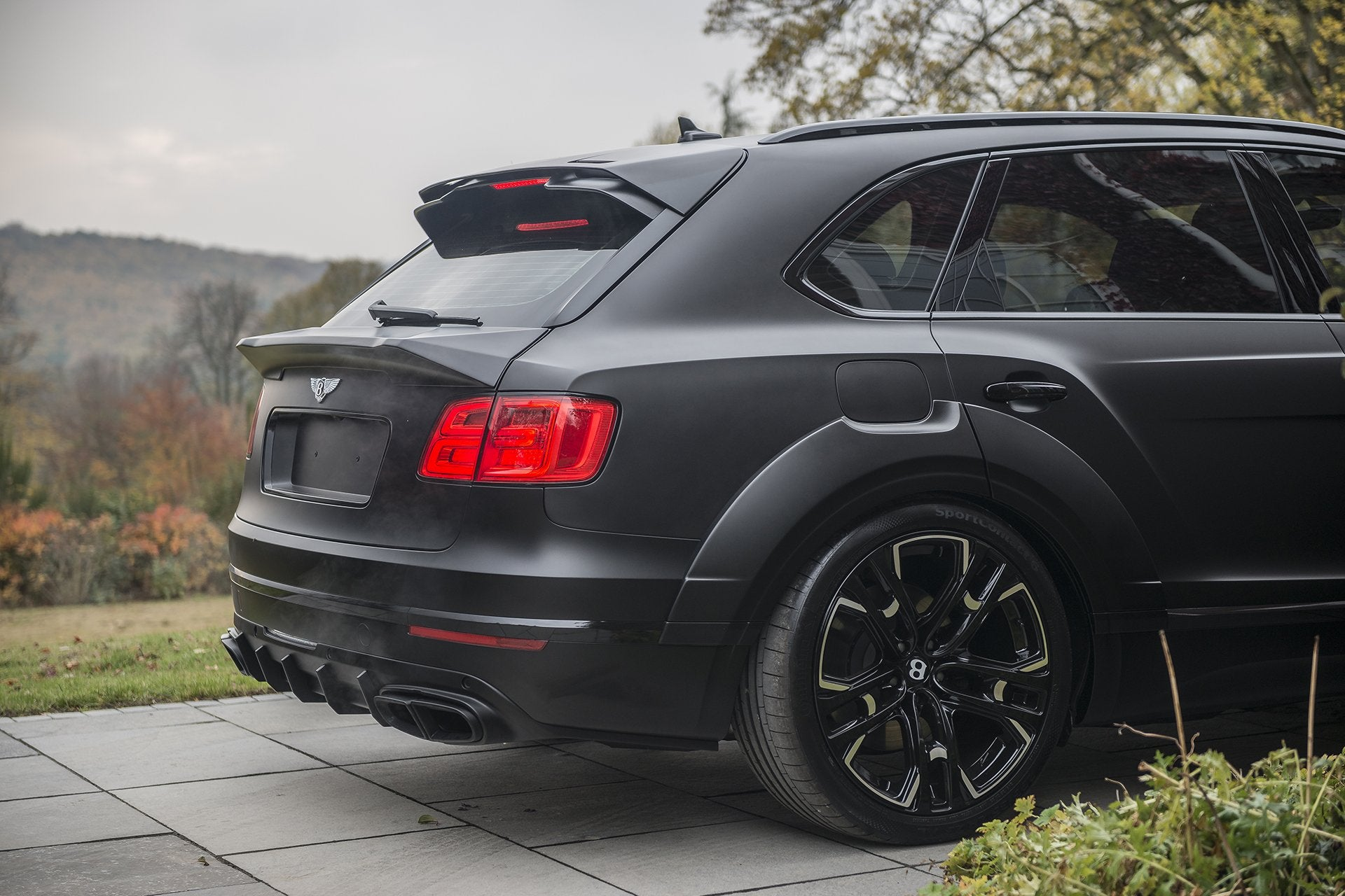 Bentley Bentayga (2016-2020) Exposed Carbon Lower Rear Boot Wing by Kahn - Image 2899