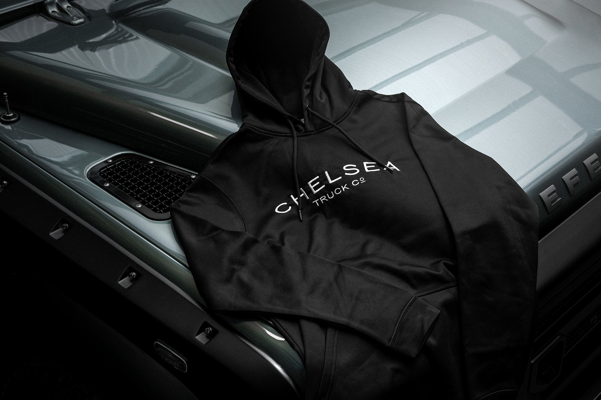 Men's Black Chelsea Truck Co Hoodie