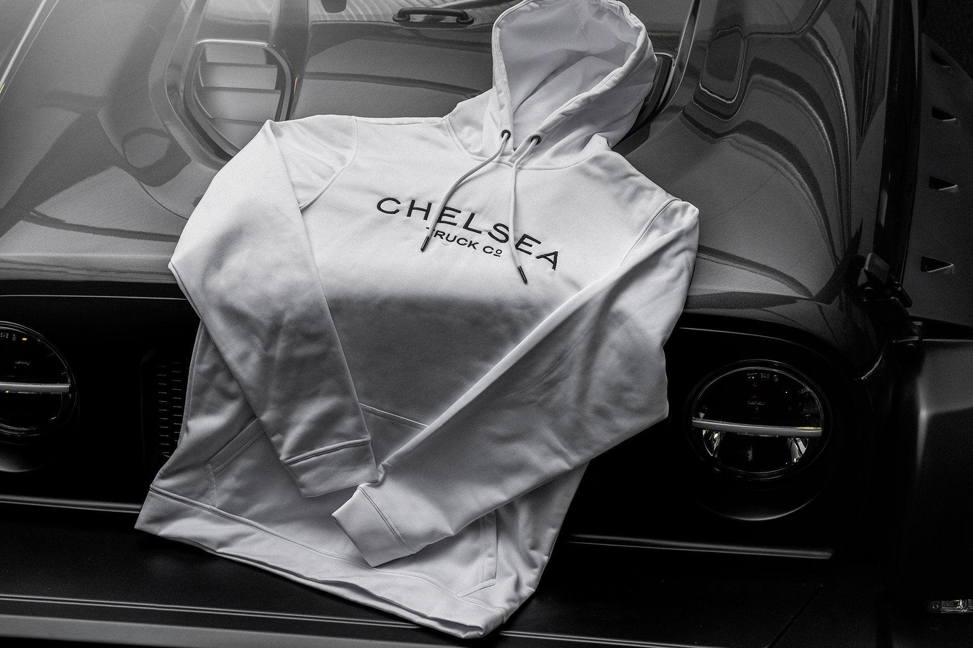 Men's White Chelsea Truck Co Hoodie