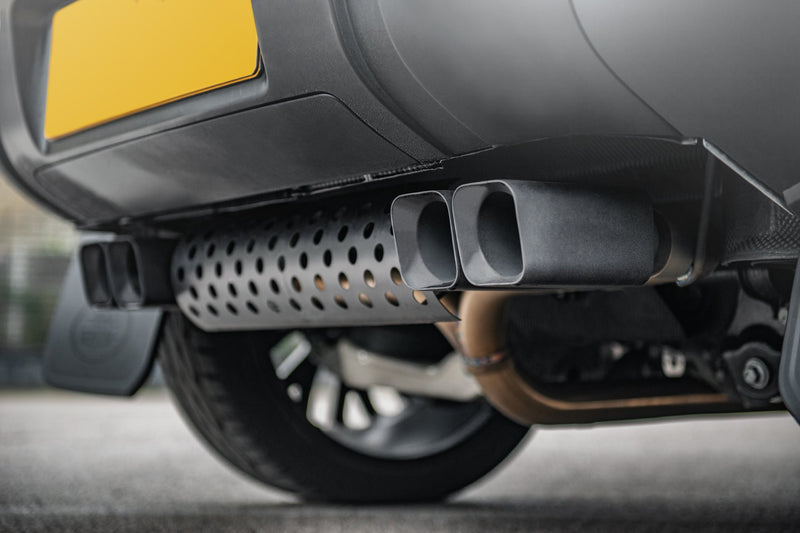 Land rover defender exhaust system