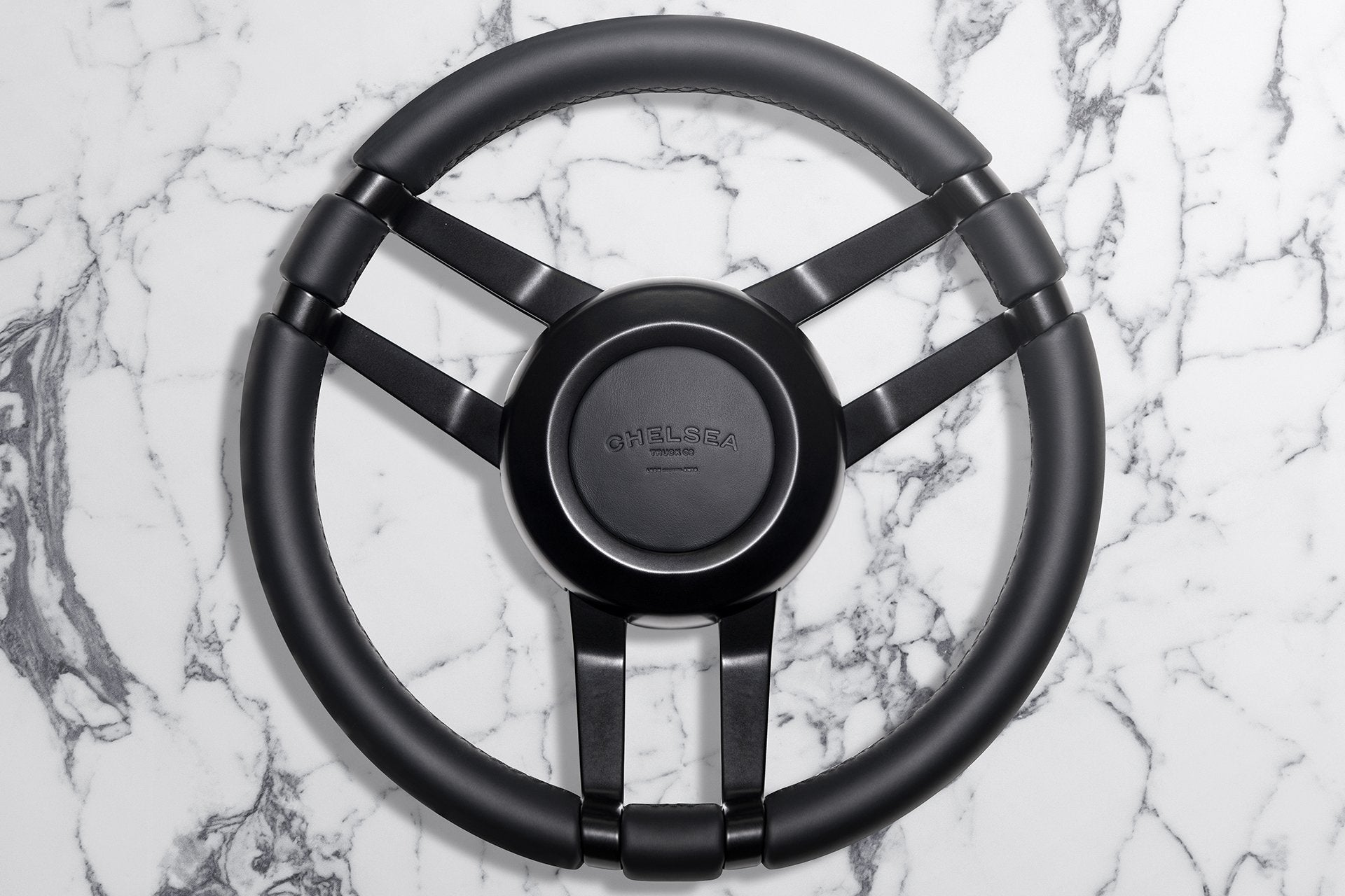 Land Rover Defender (1991-2016) Stealth Black Double 3-Spoke Steering Wheel