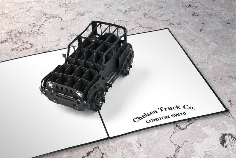 Chelsea Truck Co Jeep Wrangler Black Hawk 3D greeting card