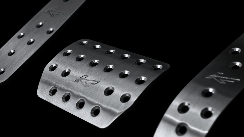 Porsche Panamera (2010-2016) Vented Foot Pedals In Machined Aluminium by Kahn - Image 1846