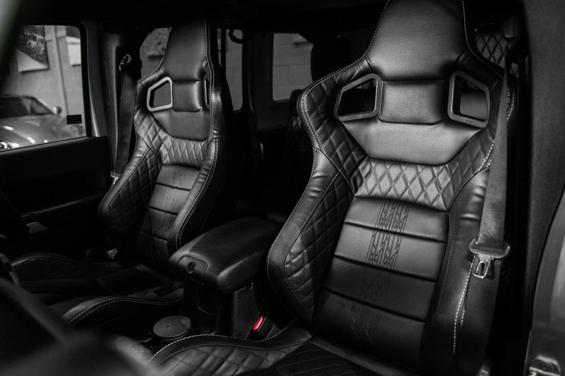 Jeep Wrangler Jk (2007-2018) 2 Door Vegan Leather Gtb Sports Seats by Chelsea Truck Company - Image 1127