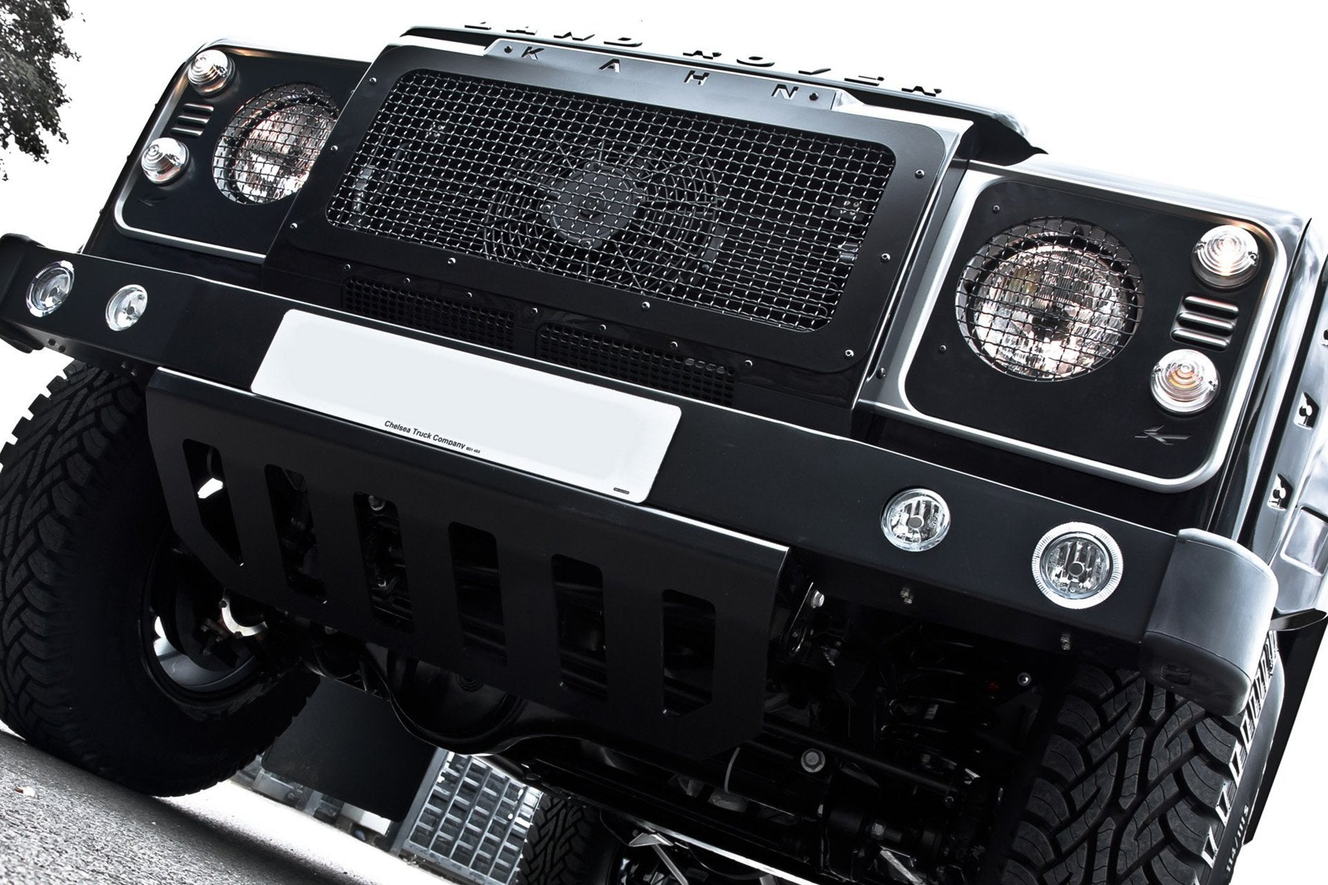 Land Rover Defender 110 (1991-2016) Headlight Covers With Mesh by Chelsea Truck Company - Image 2449