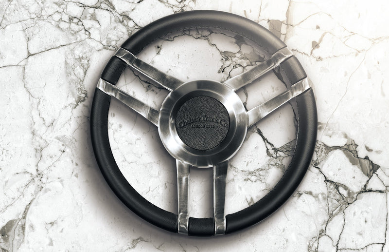 Land Rover Defender (1991-2016) Double 3-Spoke Steering Wheel -Chrome Finish Image 5101