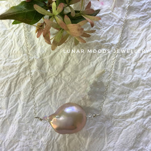 Single Baroque Freshwater Pearl Necklace