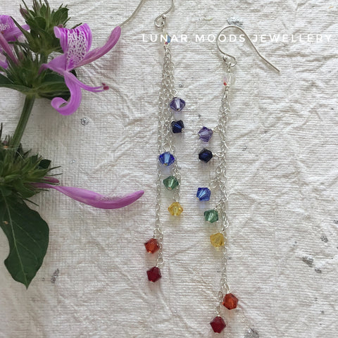 Swarovski Crystal Chakra Earrings