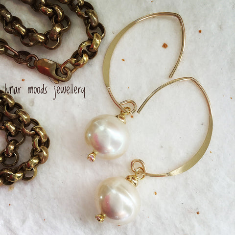 Pearl Gold Filled Earrings