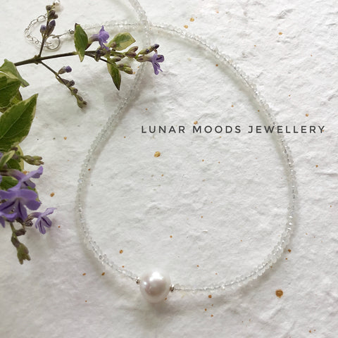 Moonstone & Pearl Necklace