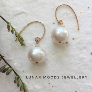 Rose Gold Filled & Pearl Earrings
