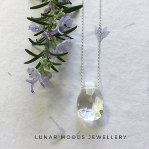 Crystal Quartz on Sterling Silver Chain