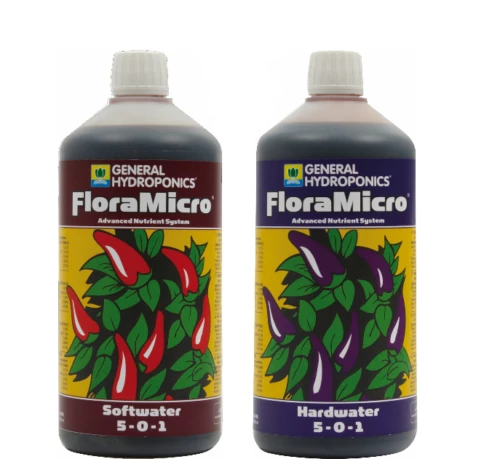 General Hydroponics FLoraMicro Soft Or Hard Water Micro Nutrient Hydroponics