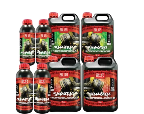 Shogun Samurai Hydro Grow Bloom A&B Hard Water Soft Water Nutrient Hydroponics