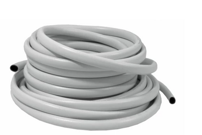 White PVC Reinforced Hose Pipe Hydroponics 13mm 19mm 25mm - Like Iceline