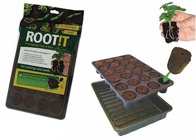 Root it 24 Propagation Insert & Trays Starter Plugs Seeds Cuttings Base Root!t