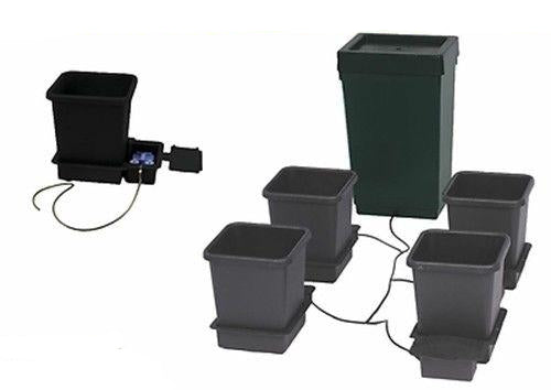 Autopot 4 x 15 Litre Pot Grow System Kit Complete With 47 Litre Tank Hydroponics