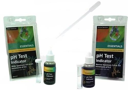 Essentials pH Test Kit Narrow or Wide Spectrum pH Hydroponics Like pH Meter