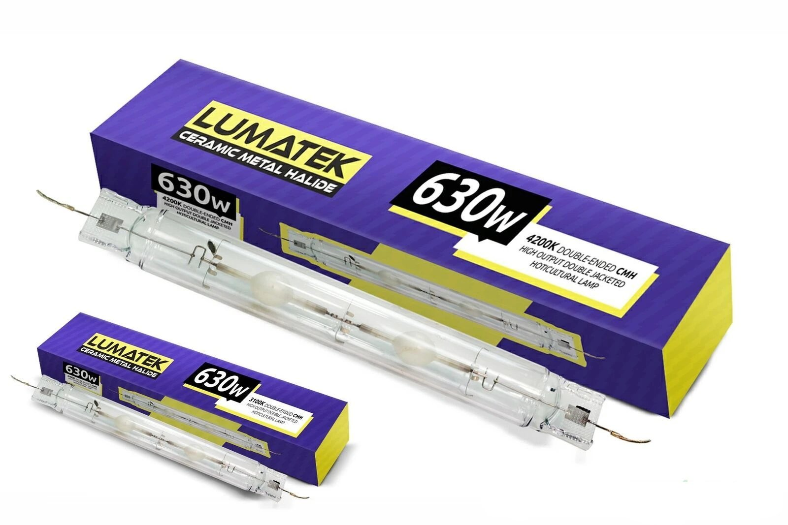 Lumatek 630W 3100k/4200k CMH CDM DE Ceramic Metal Halide Double Ended light Bulb