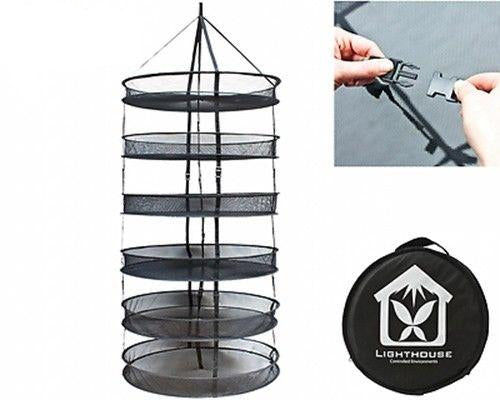 "LightHouse DryNet 75cm (30"") Dry Net Drying Rack Hydroponics Grow Tent 6 Layers"