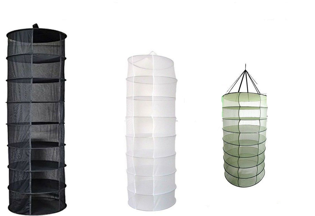 Hanging Dry Rack 8 Tier Hydroponic Grow Tent Herb Bud Plant Clothes