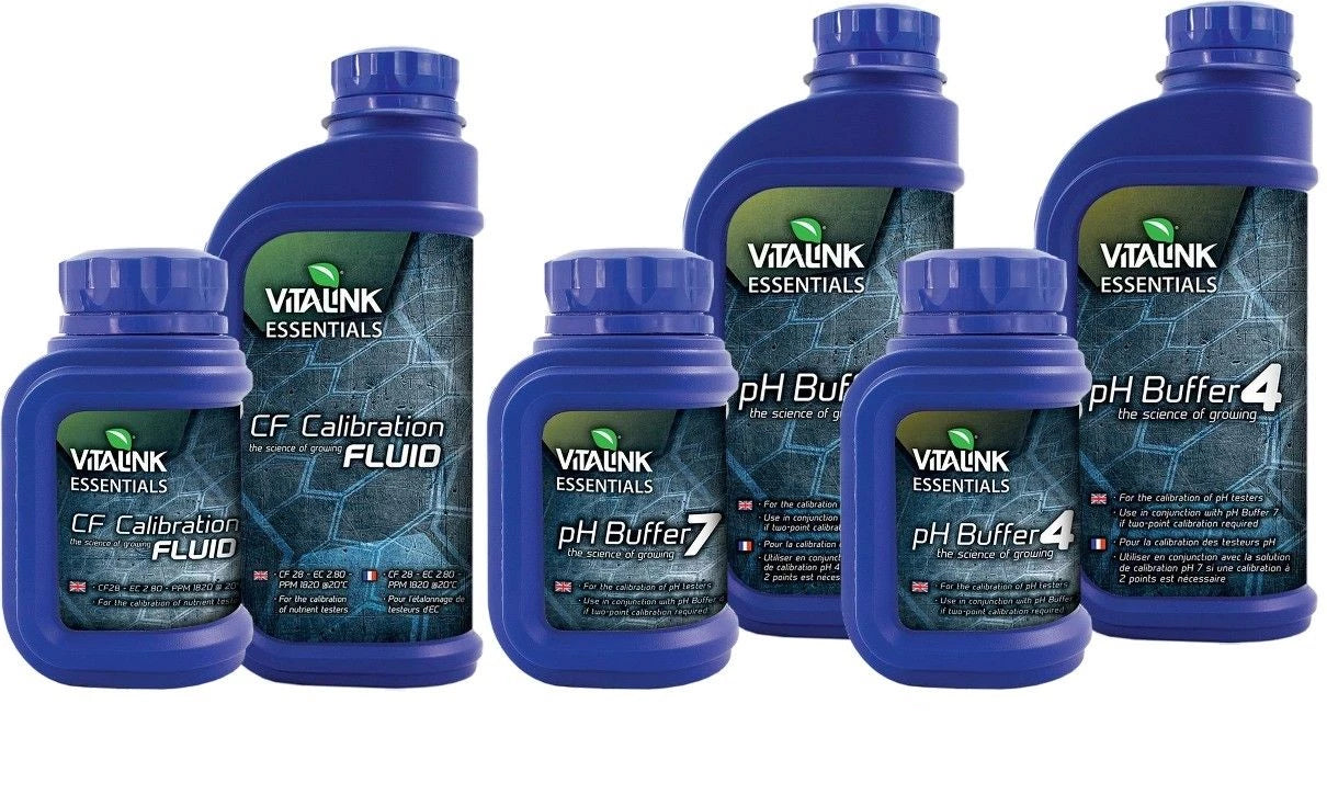 Vitalink Essentials PH EC Buffer 4 7 Calibration Fluid CF Solution Hydroponics