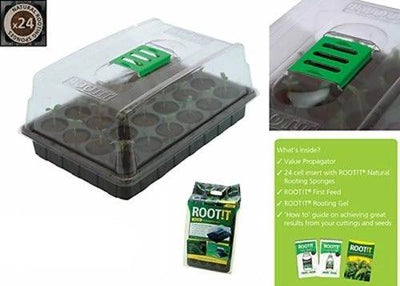ROOT iT Propagation 24 Natural Sponge Cubes Kit comes with Gel First Feed Guide