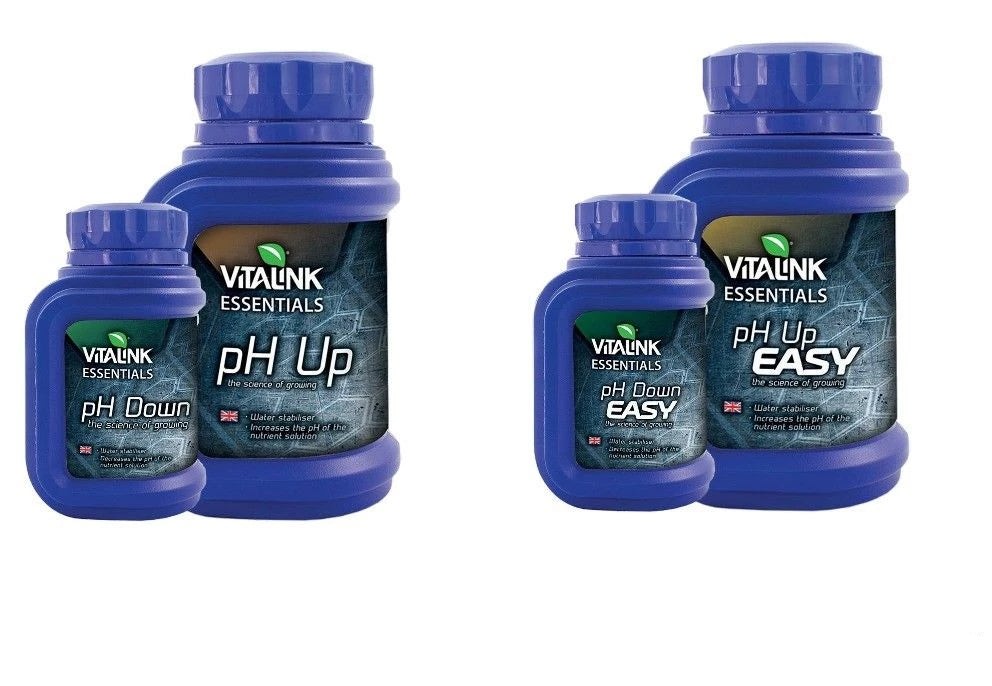 Vitalink pH Up And Down Solution Aquarium Hydroponics 250ml 1 Litre