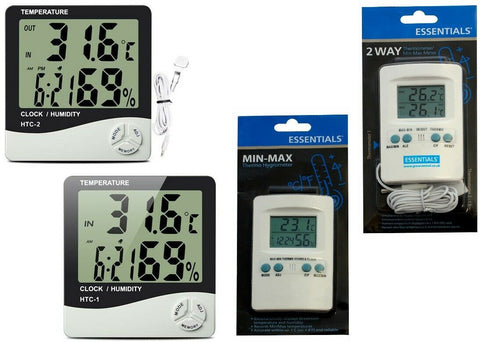 Min Max Hydro or Temperature meter Hydroponic Grow Media Tent Humidity Sensor