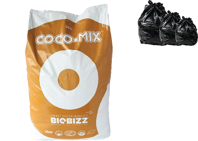 10, 25 & 50L COCO BAG HYDROPONICS INDOOR TENT BIOBIZZ QUALITY GRADE TREATED PEAT