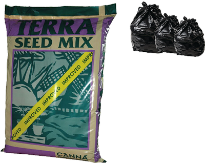 25L 10L & 5L CANNA TERRA SEED MIX Hydroponics Growing Media Soil Tent Grow Pot