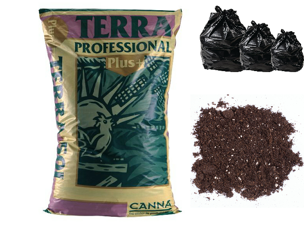 50L, 25L & 10L CANNA Terra Professional PLUS HYDROPONIC GROWING MEDIA SOIL