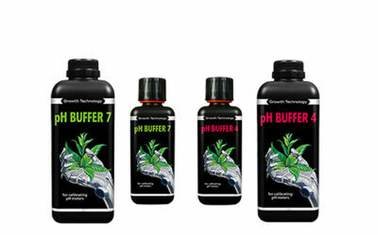 Growth Technology pH Buffer 4 & 7 Calibration Fluid Meter Solution Hydroponics