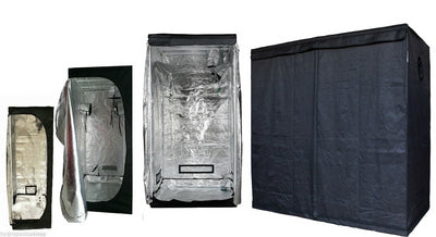 Indoor Portable Grow Tent Green Room Silver Mylar Lined Hydroponics Carbon